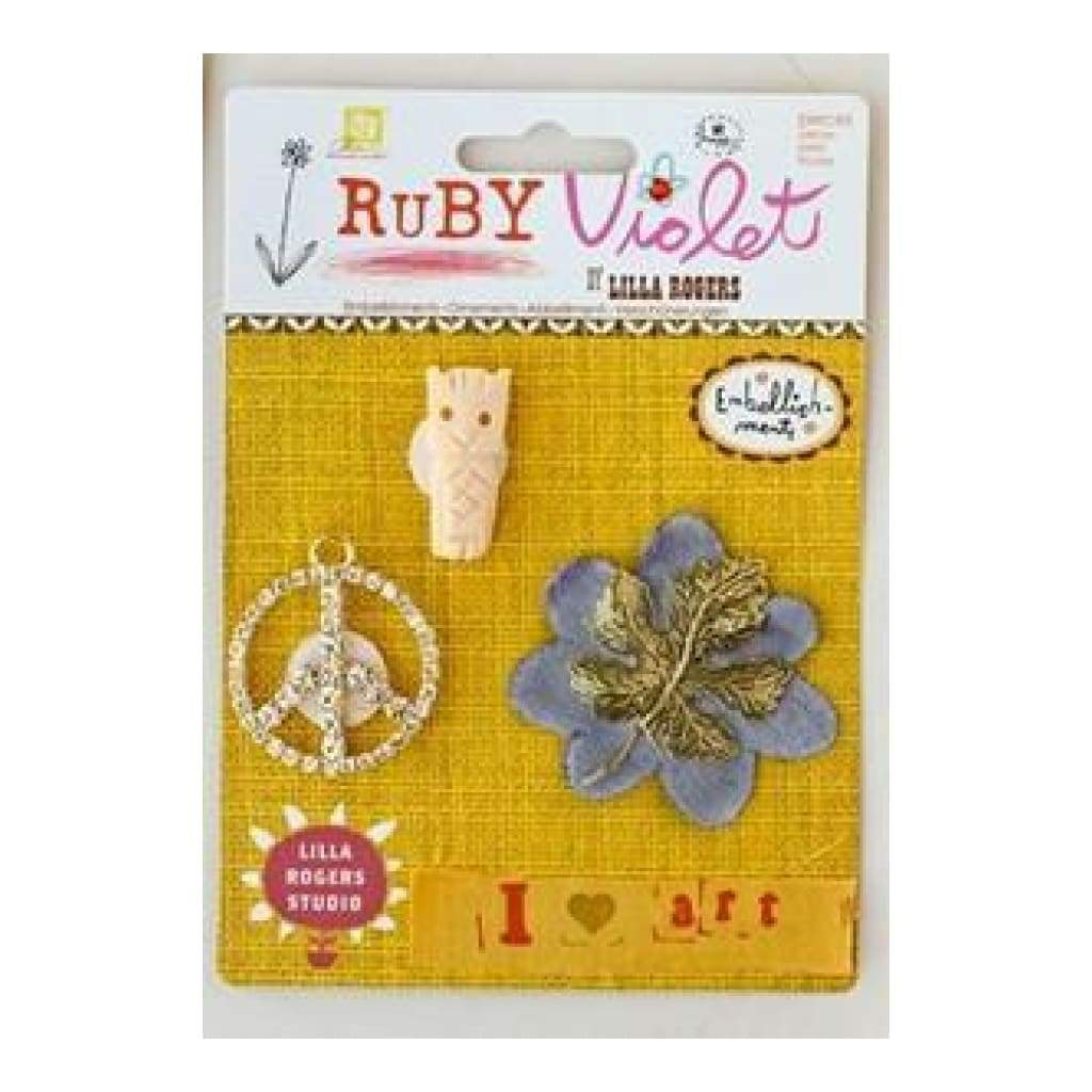 Prima Marketing - Ruby Violet - Embellishments No.16