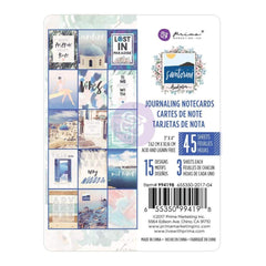 Prima Marketing - Santorini Journaling Cards Pad 3 inch X4 inch 45 pack 15 Designs/3 Each