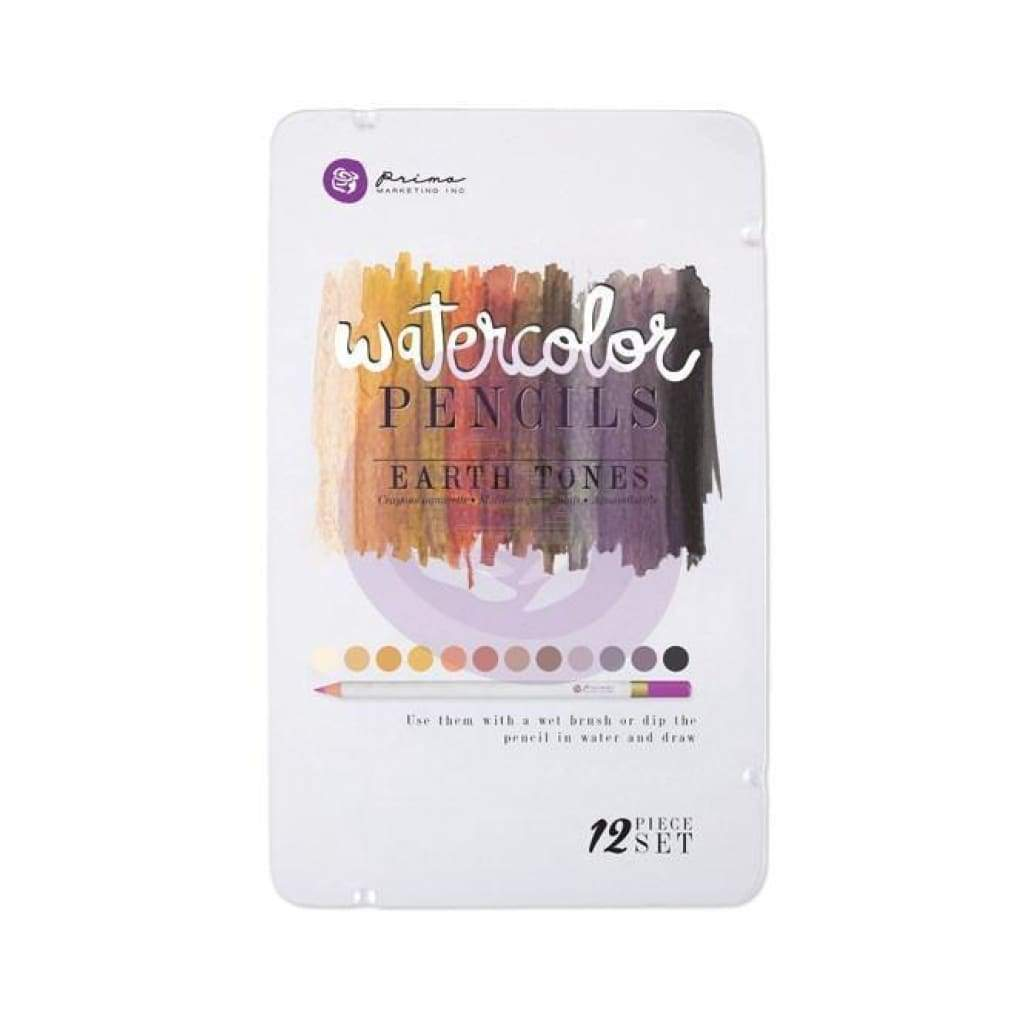 Prima Watercolour 12 Pencil Set - Earth Tones