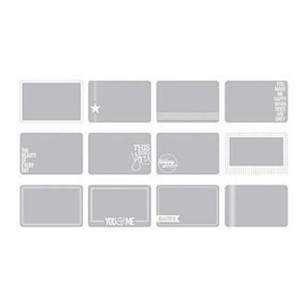 Project Life 4In.X6in. Photo Overlays 12 Pack Set #3