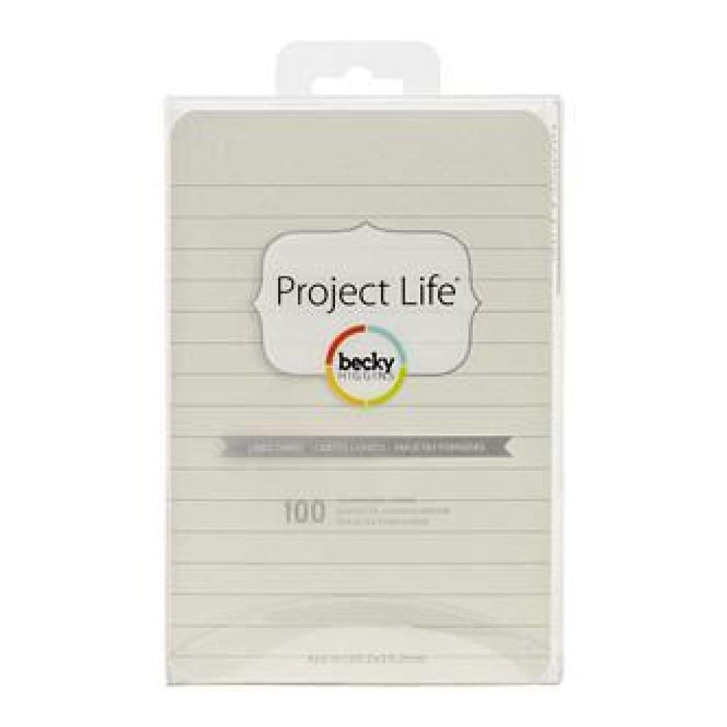 Project Life 4X6 Textured Cardstock 100 Pack Lined - Cream (D8)