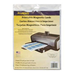 ProMag Printable Magnetic Cards 2Inch X3.5Inch  10 Cards/Sheet 3 Sheets Pack