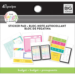 Me and My Big Ideas - Happy Planner Tiny Sticker Pad - Budget, 20 pack