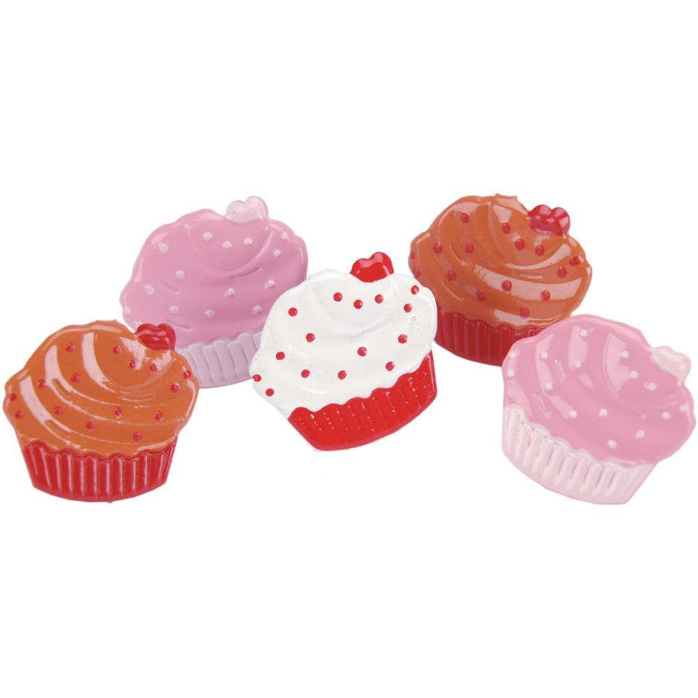 Eyelet Outlet Shape Brads 12 pack Cupcakes