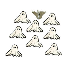 Eyelet Outlet Shape Brads 12 pack - Ghost