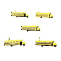 Eyelet Outlet Shape Brads 12 pack - School Bus