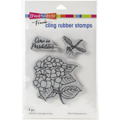 "Stampendous - Cling Stamp - Hydrangea Wings - 4.5""x 5.5"""
