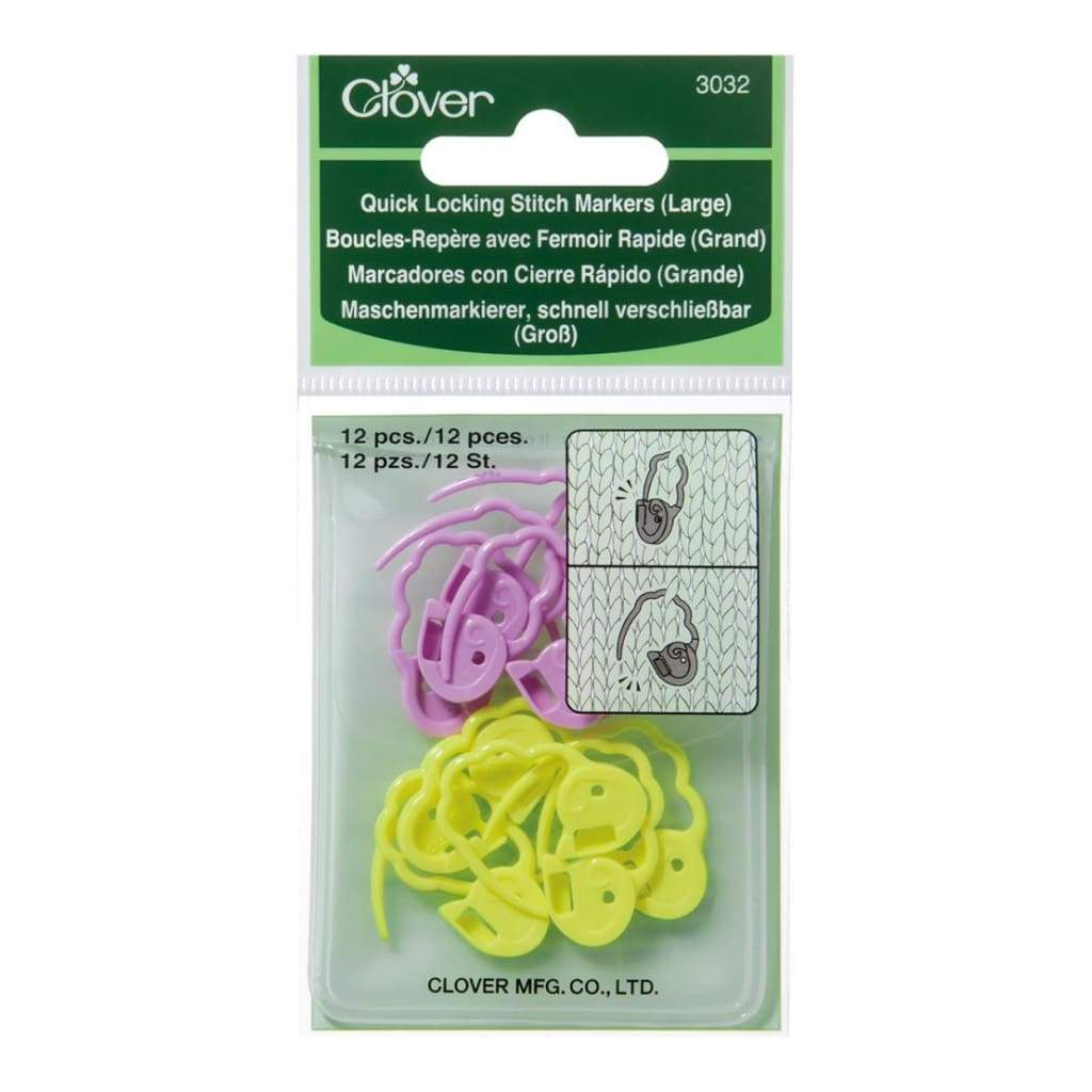 Quick Locking Stitch Markers Large 12 pack