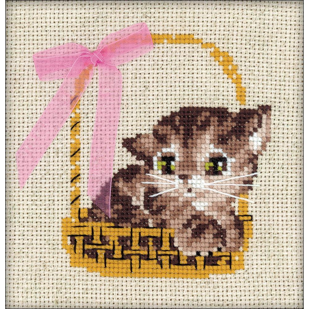 RIOLIS Counted Cross Stitch Kit 5.9inch X5.9inch - Gift (14 Count)