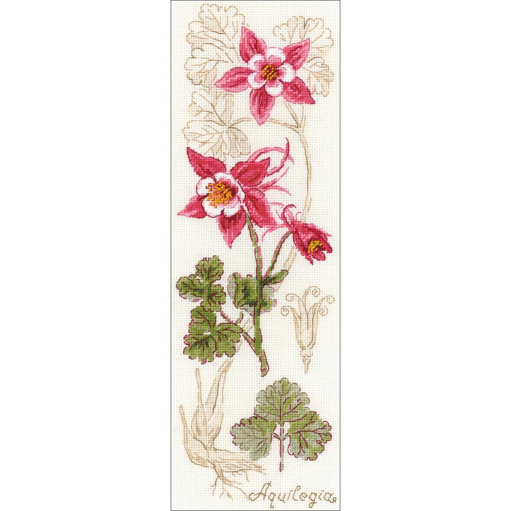 RIOLIS Counted Cross Stitch Kit 4X11.75 Aquilegia (18 Count)