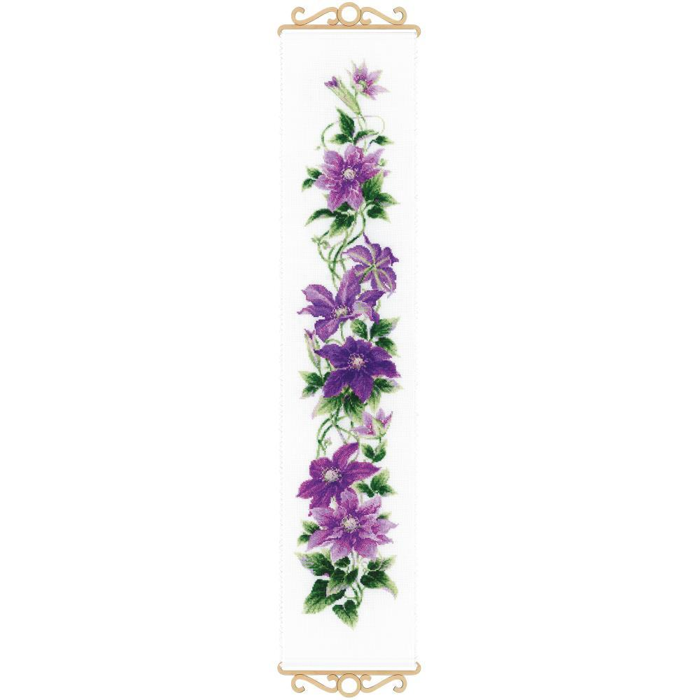 RIOLIS Counted Cross Stitch Kit 7.5X35.5 Clematis (14 Count)