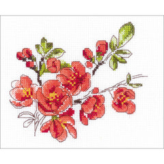 RIOLIS COunted Cross Stitch Kit 5 inchX6 inch - The Branch Of Cydonia (14 Count)