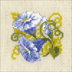 RIOLIS Counted Cross Stitch Kit 5in x 5in Purple Bindweed (10 Count)