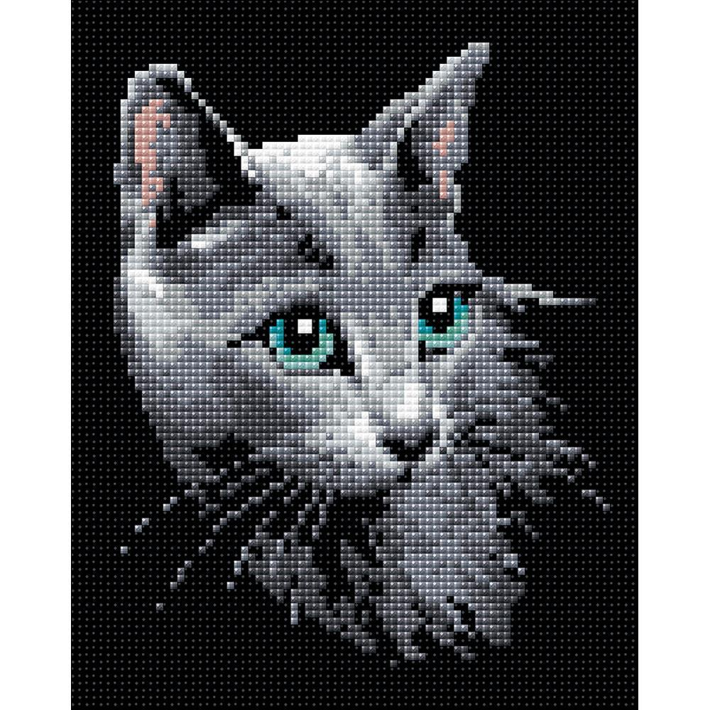 RIOLIS Diamond Mosaic Embroidery Kit 7.75 inch X9.75 inch Russian Blue