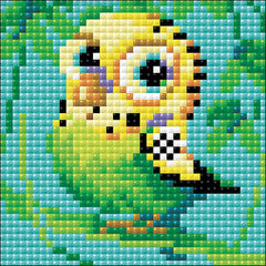 RIOLIS Diamond Mosaic Embroidery Kit 4in x 4in - Parakeet