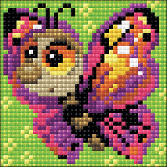 RIOLIS Diamond Mosaic Embroidery Kit 4in x 4in - Butterfly
