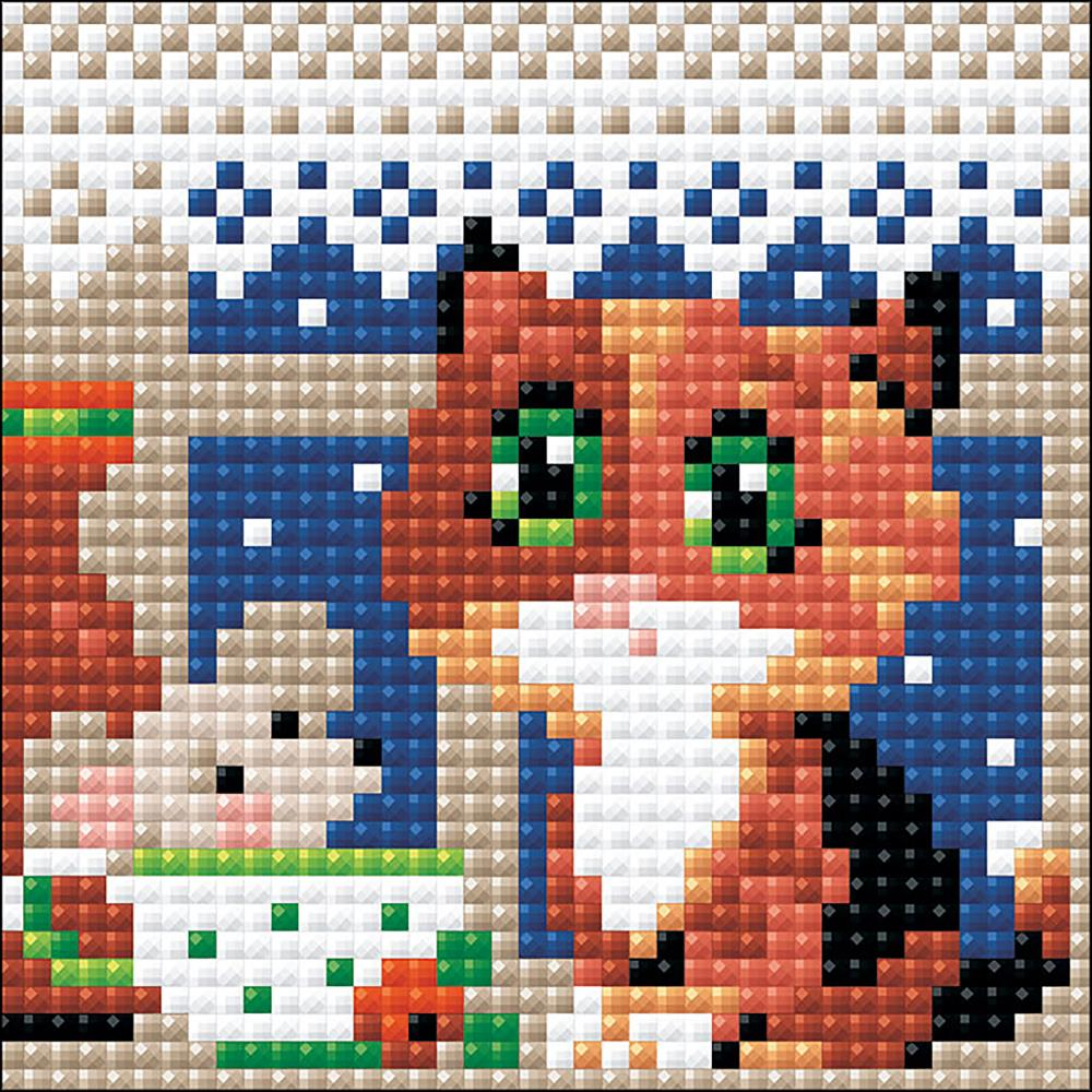 RIOLIS Diamond Mosaic Embroidery Kit 4in x 4in - Tea For Two