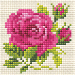 RIOLIS Diamond Mosaic Embroidery Kit 4in x 4in - Pink Rose