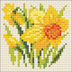 RIOLIS Diamond Mosaic Embroidery Kit 4in x 4in - Yellow Narcissus