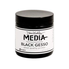 Ranger/ Dina Wakley Media Black Gesso 4Oz (118Ml)