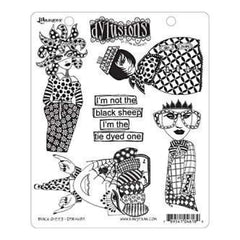Ranger - Dyan Reaveley: Dylusions Cling Rubber Stamp Set - Black Sheep