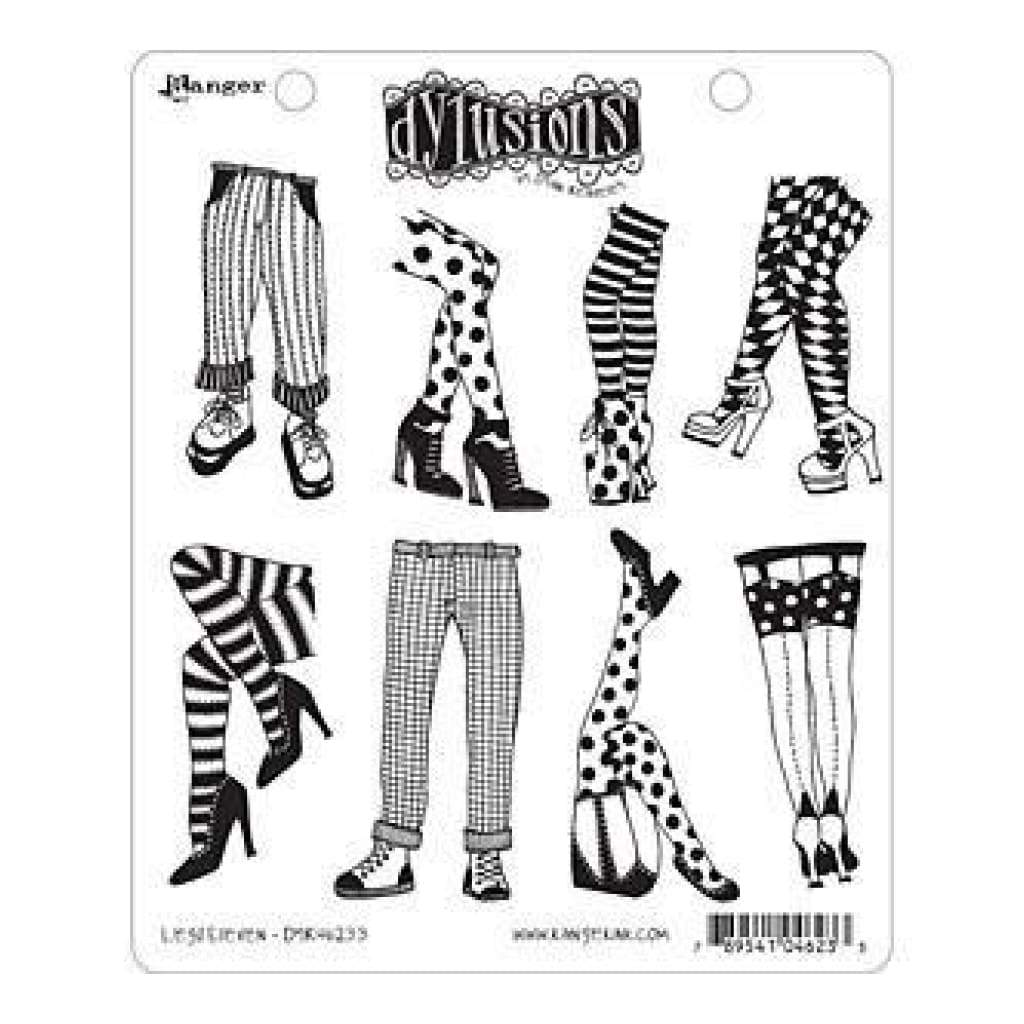 Ranger - Dyan Reaveley: Dylusions Cling Rubber Stamp Set - Legs Eleven