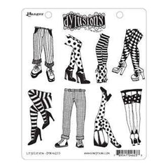 Dyan Reaveley: Dylusions Cling Rubber Stamp Set - Legs Eleven