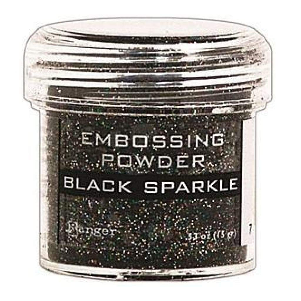 Ranger Embossing Powder 1 Oz - Black Sparkle