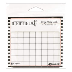 Ranger Letter It Acrylic Stamping Block 4X3