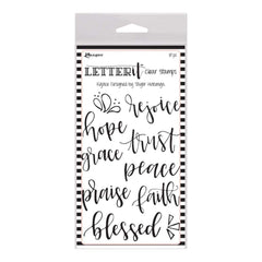 "Ranger Letter It Clear Stamp Set 4"" X 6"" Rejoice"