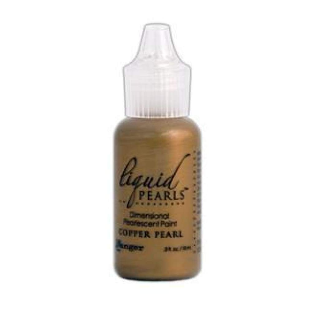 Ranger Liquid Pearls Paint - .05Oz Bottle - Copper Pearl