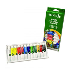 Reeves - Acrylic Paint 10ml Set 12