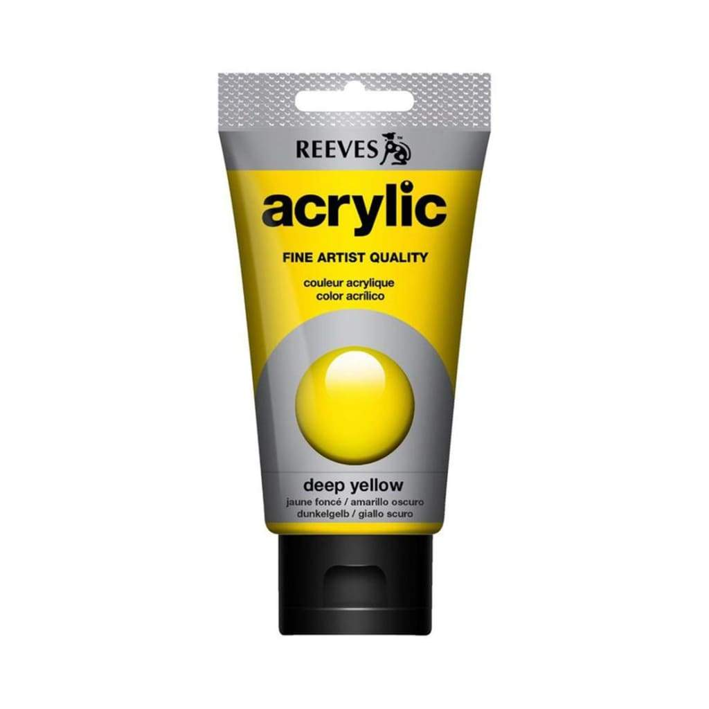 Reeves - Acrylic Paint 75ml - Deep Yellow 130