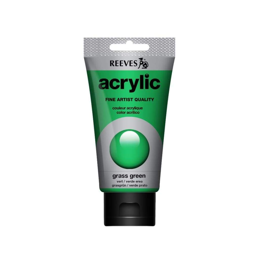 Reeves - Acrylic Paint 75ml - Grass | Meadow Green 440