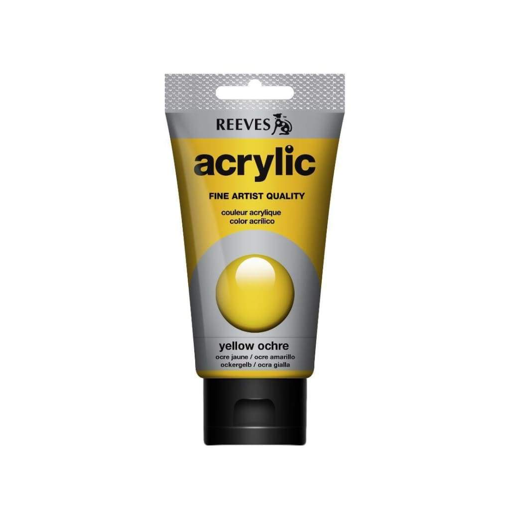 Reeves - Acrylic Paint 75ml - Yellow Ochre