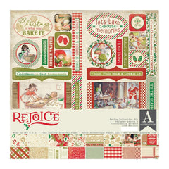 Authentique - Collection Kit 12 inches X12 inches - Rejoice, Holiday Baking Theme