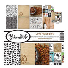 Reminisce - Collection Kit 12 inch X12 inch Love My Dog