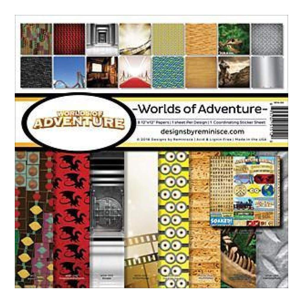 Reminisce - Worlds Of Adventure Collection Kit 12 Inch X12 Inch