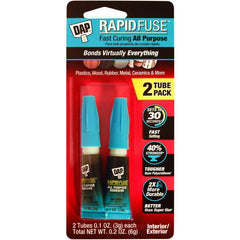 DAP Rapid Fuse All Purpose Glue Twin Pack .1oz