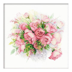 RIOLIS Counted Cross Stitch Kit 11.75inch X11.75inch Watercolour Roses (14 Count)