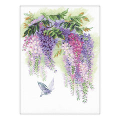 RIOLIS Counted Cross Stitch Kit 11.75inch X15.75inch Wisteria (14 Count)