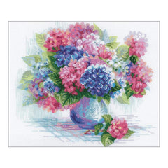 RIOLIS Counted Cross Stitch Kit 13.75inch X11.75inch Hydrangea (14 Count)