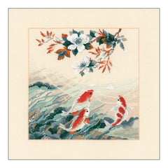 RIOLIS Counted Cross Stitch Kit 15.75inch X15.75inch Dancing Fish (14 Count)