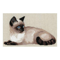 RIOLIS Counted Cross Stitch Kit 15inch X10.25inch Thai Cat (10 Count)