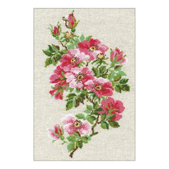 RIOLIS Counted Cross Stitch Kit 8.25inch X11.75inch May Wild Rose (15 Count)