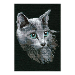 RIOLIS Counted Cross Stitch Kit 8.25inch X11.75inch Russian Blue (10 Count)