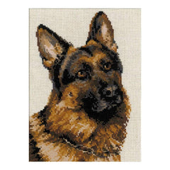 RIOLIS Counted Cross Stitch Kit 9.5inch X11.75inch German Shepherd (10 Count)