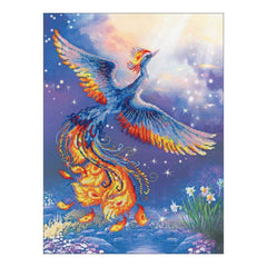 RIOLIS Stamped Cross Stitch Kit 11.75 inch X15.75 inch Bird Of Happiness (14 Count)