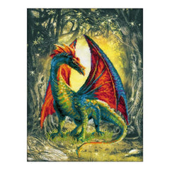 RIOLIS Stamped Cross Stitch Kit 11.75 inch X15.75 inch Forest Dragon (14 Count)