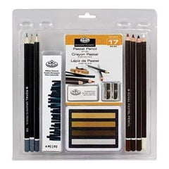 Royal Brush - Clamshell Art Sets Pastel Pencil 17 Pieces